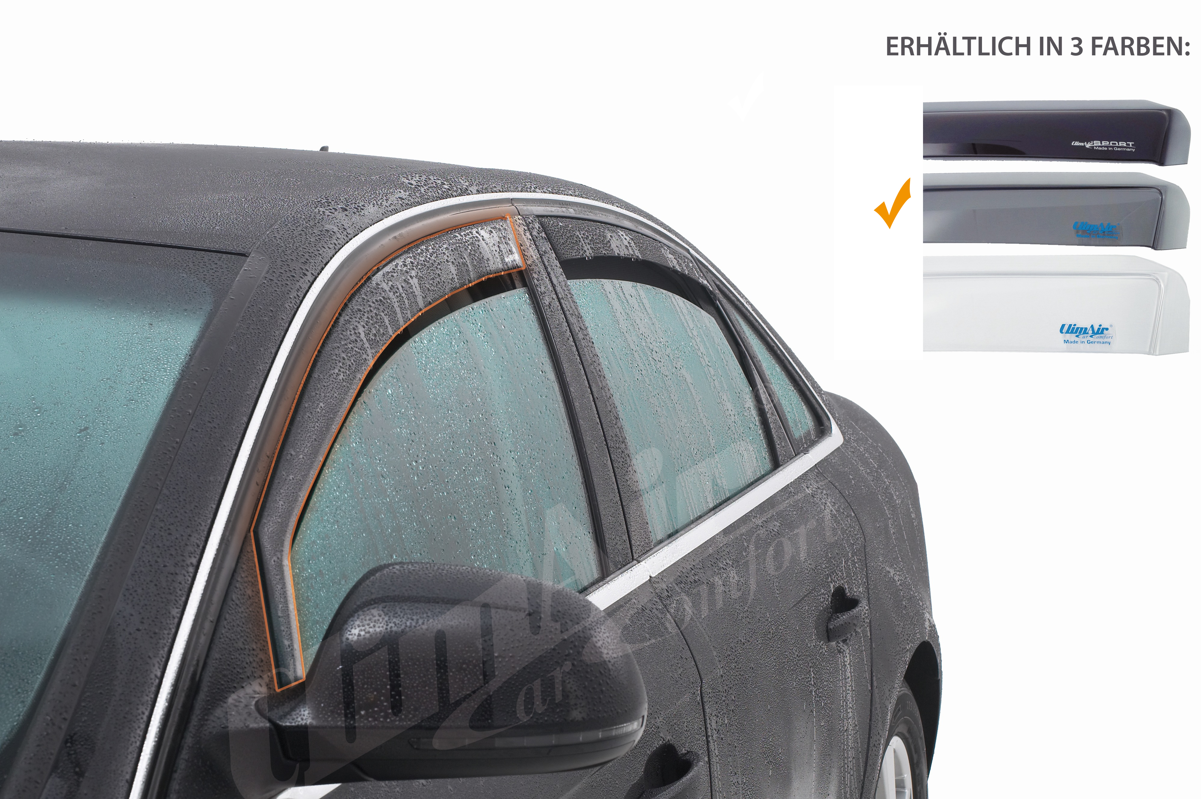 f/ür die Fahrer und Beifahrerseite-CLS0031796D passend f/ür Ford Fiesta TYP JBS 3-Door Vordere Windabweiser 1 Set 1995-2001 Mazda 121 FLH