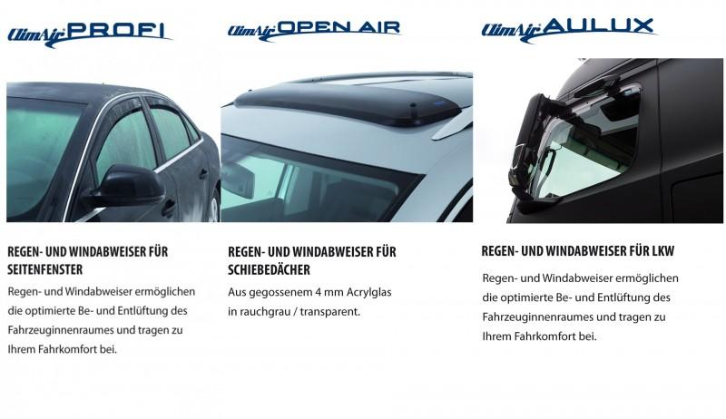 Regen- und Windabweiser für PKW und LKW